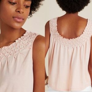 Anthropologie Maeve Justine Smocked Top Small